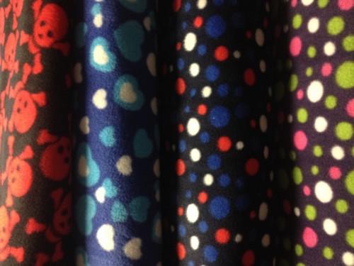 nové fleece materiály, teploučké